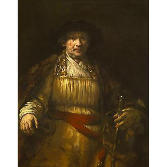 Self-Portrait, REMBRANDT Harmenszoon van Rijn, 50x40cm