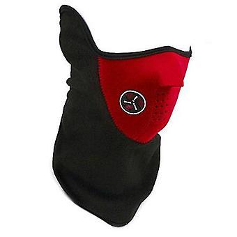 TRIXES Red Neoprene & velo metade rosto e pescoço mais quentes para esqui Snowboard Airsoft etc