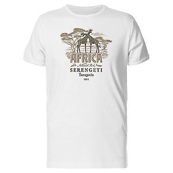 Afrika-Giraffen Tansania 1951 T-Shirt Männer-Bild von Shutterstock