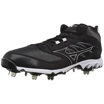 Mizuno Men's 9-Spike Dominant Ic Mid Metal Baseball Cleat Shoe