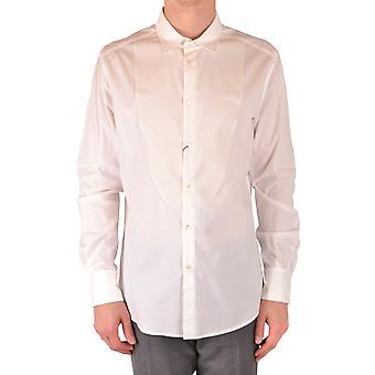 Tom Rebl Ezbc151010 Men's White Cotton Shirt
