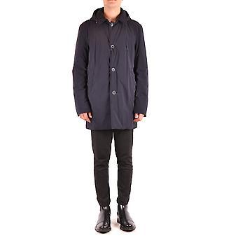 Herno Ezbc034039 Men's Blue Nylon Outerwear Jacket