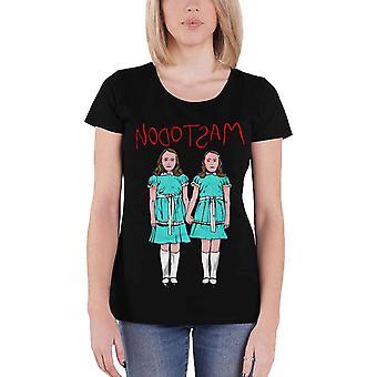 Mastodon T Shirt band logo twins Official Womens New Black Skinny Fit