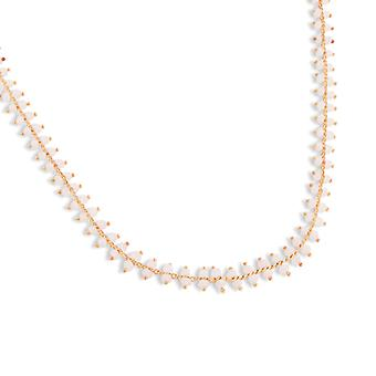 PEARLS FOR GIRLS jewelry discreet ladies necklace with glass beads gold