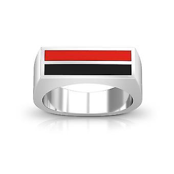 Texas Tech University Ring In Sterling Silver Design by BIXLER