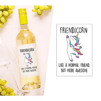 Friendicorn sticla de vin Label