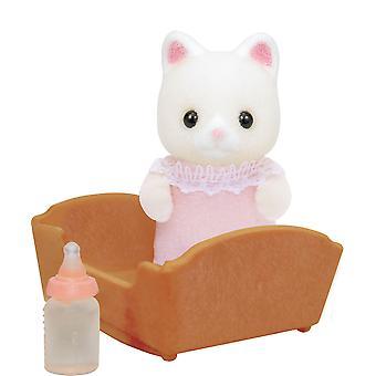 Famílias de Sylvanian - seda gato bebé Zoé rosa