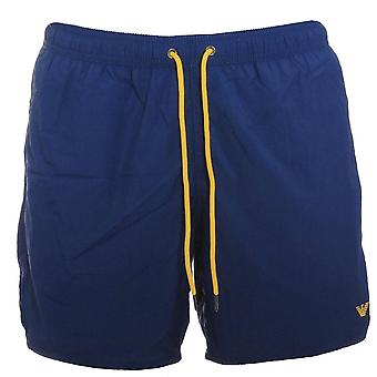 Emporio Armani Logo Swim Shorts, Washed Blue  Small (46)