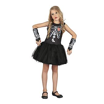 Bristol Novelty Childrens/Girls Jewel Skeleton Girl Costume