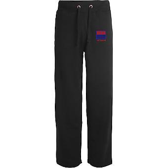 Royal Artillery TRF - Vétéran - Licensed British Army Embroidered Open Hem Sweatpants / Jogging Bottoms