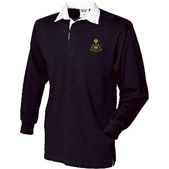 Royal Monmouthshire Royal Engineer - Licensed British Army Embroidered Long Sleeve Rugby Shirt