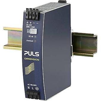 PULS DIMENSION QS3.241 Rail mounted PSU (DIN) 24 V DC 3.4 A 80 W 1 x