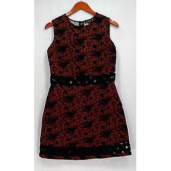 TopShop Dress Floral Printed Sleeveless Sheath Black