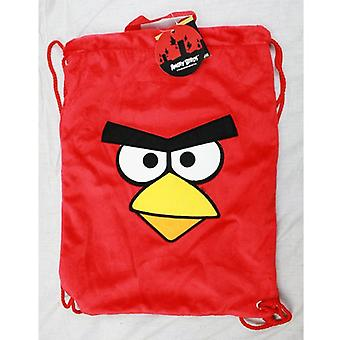 Mochila de cuerda - Angry Birds - Red Plush Sling Cinch Bag New Boys f11an7246