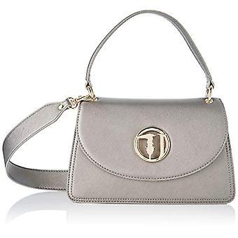 Trussardi Jeans Sophie Cross Body MD Ecoleathe Grey Woman Shoulder Bag (Gunmetal) 18x10.5x29 cm (W x H x L)