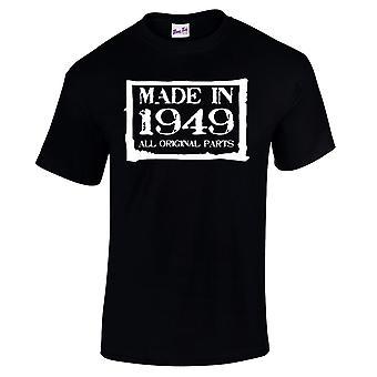 Mannen ' s 70e verjaardag T-shirt gemaakt in 1949 nieuwigheid giften voor hem