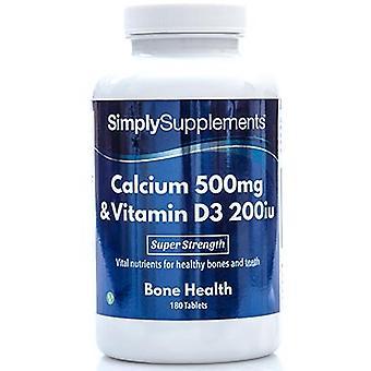 Calcium-500mg-vitamin-d3-200iu - 180 Tablets