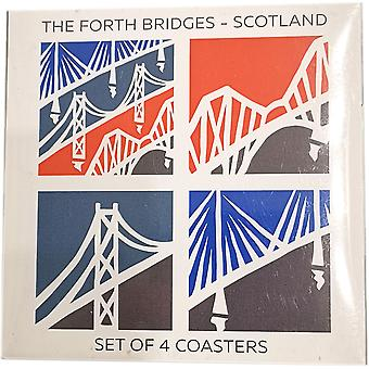 Gift Set of 4 Coasters by The Forth Bridges