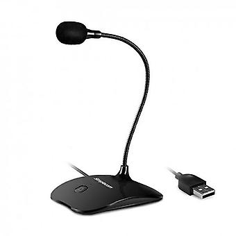 Plug and Play USB Desktop Microphone with Flexible Neck and Mute Button