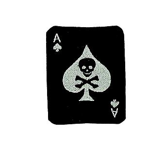 Patch As De Pic Ace Of Spaldes Airsoft Biker Military Armee Skull Ecusson