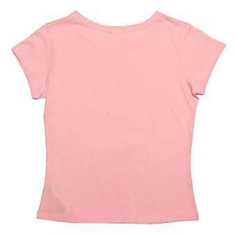 Infant Girls Juicy Couture Branded T-Shirt In Rose- Cap Sleeve- Ribbed Collar-