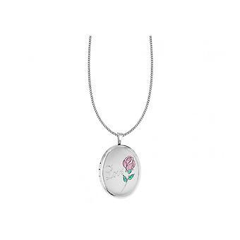 Evigheden sterling sølv 20mm oval kærlighed Locket og 18 ' ' kæde