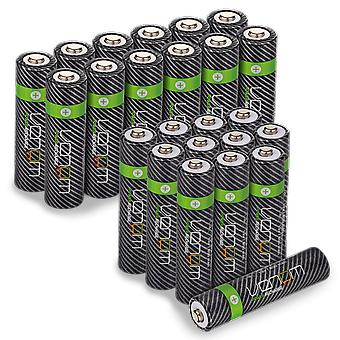 Venom power recharge - premium rechargeable aa / aaa batteries (includes 12 x aa plus 12 x aaa)