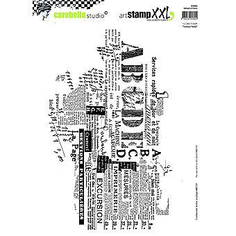 """ستوديو Carabelle """"نص"""" التشبث الطابع، الأبيض/شفافة، X 2-كبير"""