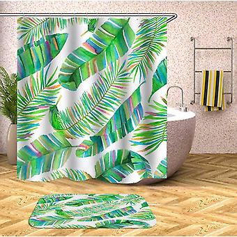 Shower Curtains Rainbow Palm Leaves