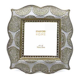 Stanford Home Circle Ornate Picture Frame Rear Stand Decoration Décor