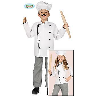 Guirca puku kokki puku ja hattu lapset unisex Carnival