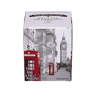 Red telephone box english breakfast tea 10 teabag carton