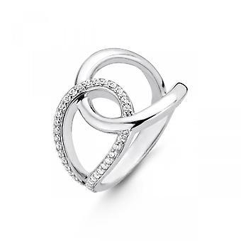 Ring ti Sento flimrende lys 12158zi-sølv ring cuatrocasas s zirconium oxider kvinder