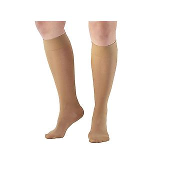 Pebble UK Signature Sheer Compression Knee Highs [Style P280] Beige  XL