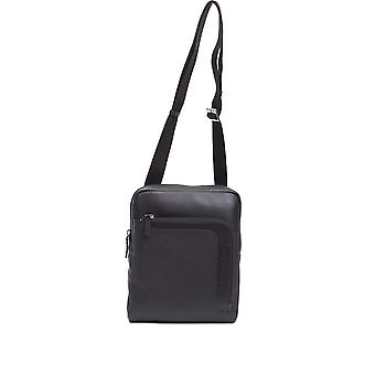 Maroon Piquadro men's satchel