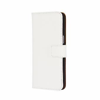 För Samsung Galaxy S8 Plånbok fall, Avskärmning Slim Leather Cover, Vit
