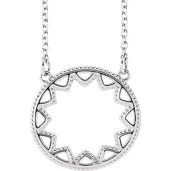 925 Sterling Sølv Polert Sol Halskjede Smykker Gaver til Kvinner - 2,4 Gram