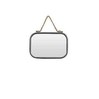 ضوء ومرآة المعيشة 19.5x28x4cm مونات الفضة العتيقة