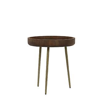 ライト&リビングサイドテーブル50x55cmカルマウッドブロンズ