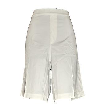 Isaac Mizrahi Live! Women's Plus Shorts 24/7 Stretch Bermuda White A289618
