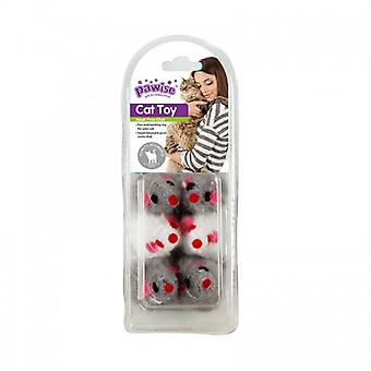 Pawise Pack 2 Mice and Balls 13 Pieces (Katten , Speelgoed , Ballen)