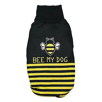 MI&DOG Turtleneck Sweatshirt Plush Garments Bee T-30