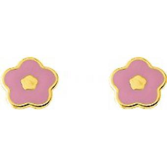 Blumen Gold 375/1000 gelb (9K) Ohrringe