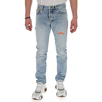 Heron Preston Hmya001s2064100677319 Men's Light Blue Cotton Jeans