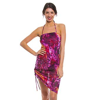 Purple amalfi tan through beach dress