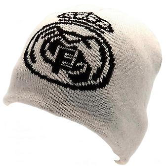 Real Madrid CF Unisex Adultes Chapeau tricoté réversible
