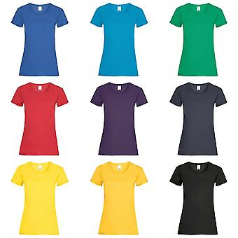 Womens/Ladies Value Fitted Short Sleeve Casual T-Shirt