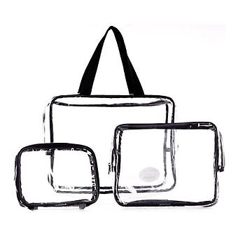 Three Piece Pvc Bag Travel Set