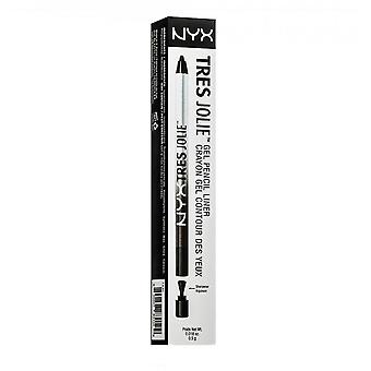 NYX Tres Jolie Gel Pencil Liner - 01 Pitch Black