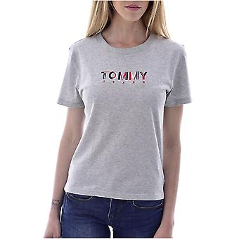 Tee Shirt Cotton Logo Embroidered Multicolor - Tommy Jeans